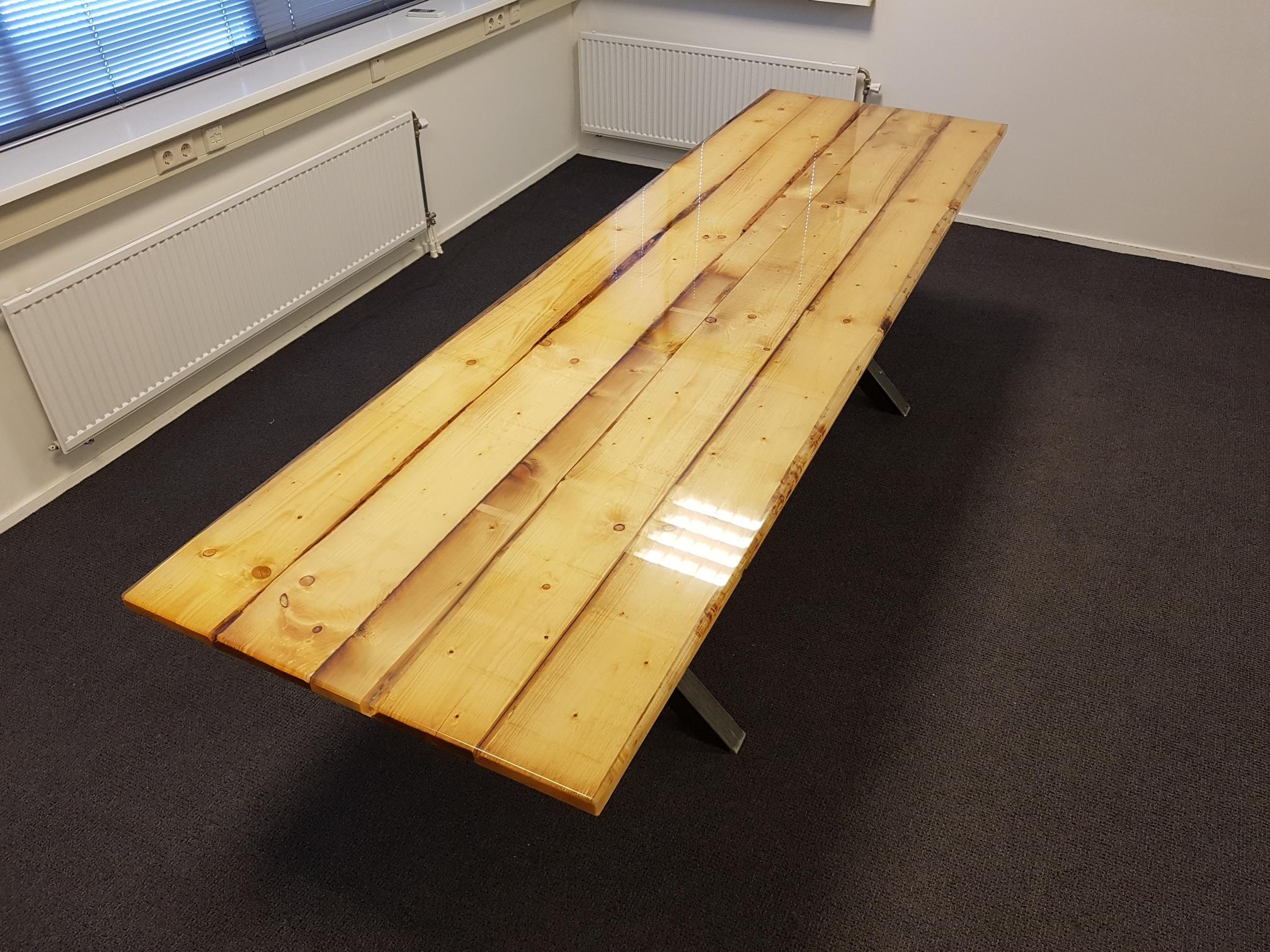 Comptoirs Et Tables égouttés Avec De La Résine époxy