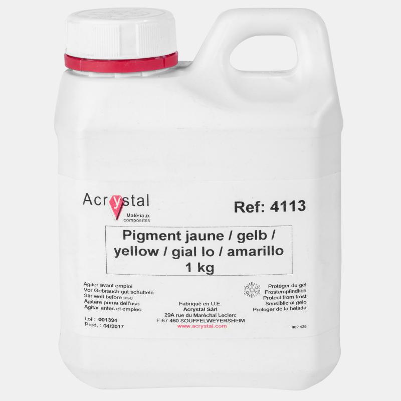 Acrystal pigment geel