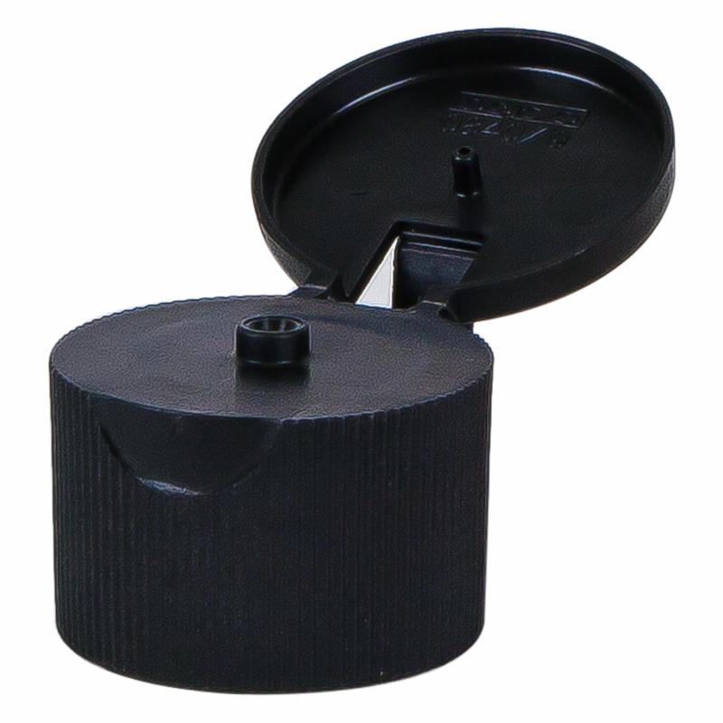 Klepdop zwart DIN28 voor plastic fles