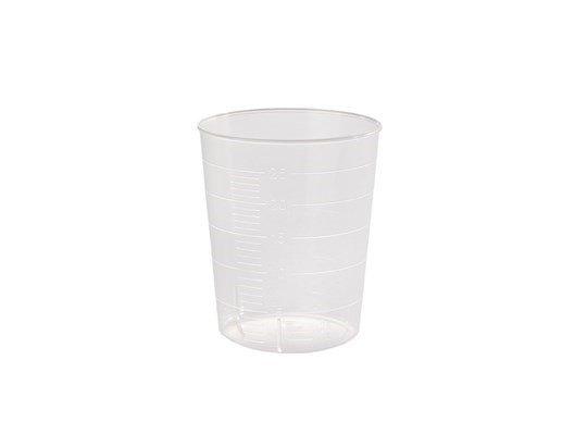 Tasse en plastique. Tasse de médecine