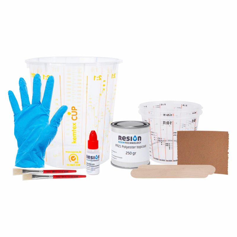Gelcoat reparatieset in kleur