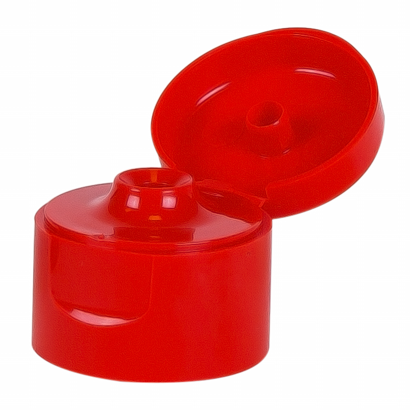 Klepdop rood DIN28 voor plastic fles